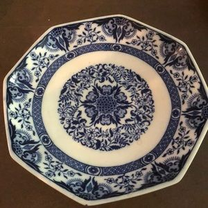 Other - Blue and White Porcelain Dish with Stand